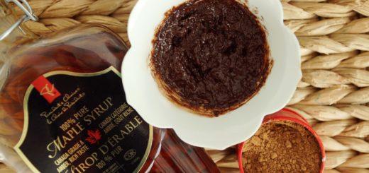 maseczka z syropem klonowym i kawa